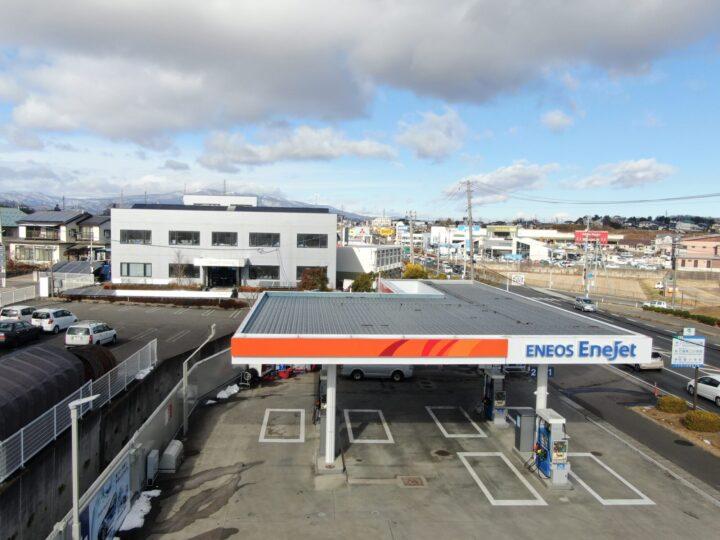 【北九州市 工場 屋根塗装】ENEOS様 ガソリンスタンドの折半屋根の屋根塗装フックボルトのサビ止め・交換
