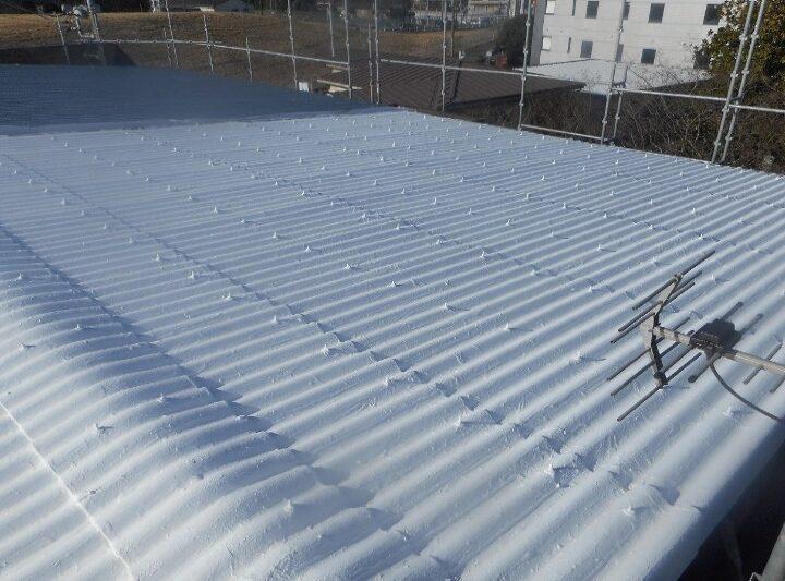 【北九州市 工場 屋根塗装】株式会社S様 屋根塗装 外壁塗装 アスベスト封じ込め強度UP遮断熱塗装工事